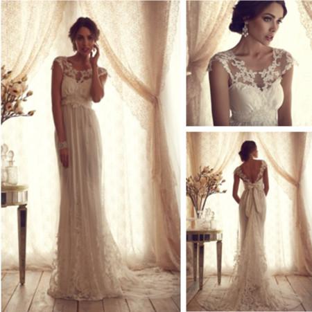 high fashion 2014 schaufel kurze Ärmel spitze hochzeit kleider fabrik vestidos longos Winter braut kleider in  von  auf Aliexpress.com