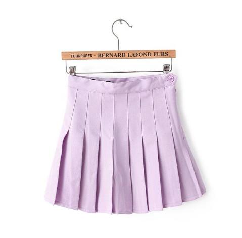Lavender Pleated Skirt on Storenvy
