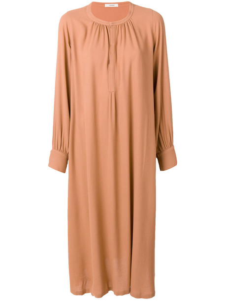 humanoid dress shirt dress women nude wool