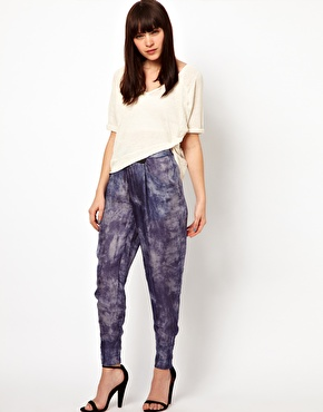 Improvd samara silk pants with tie waist at asos