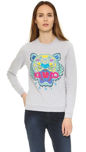 sweatshirt classic tiger light grey sweater