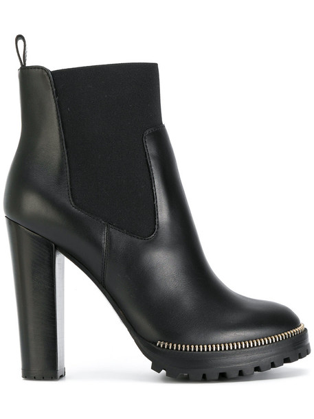 zip women embellished ankle boots leather black shoes