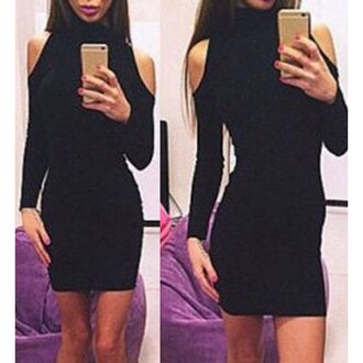 dress off the shoulder sexy rose wholesale bodycon dress selfie trendy winter outfits high neck instagram casual chic all black everything christmas hot classy