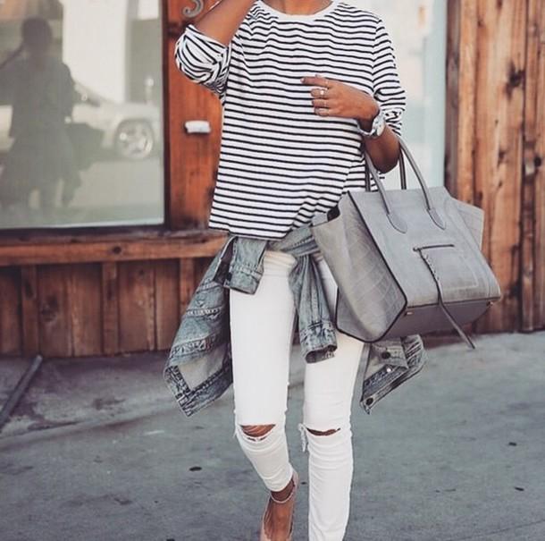 jeans shirt bag dress