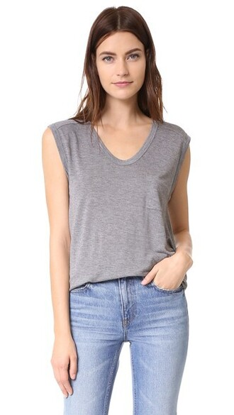 muscle tee classic grey heather grey top