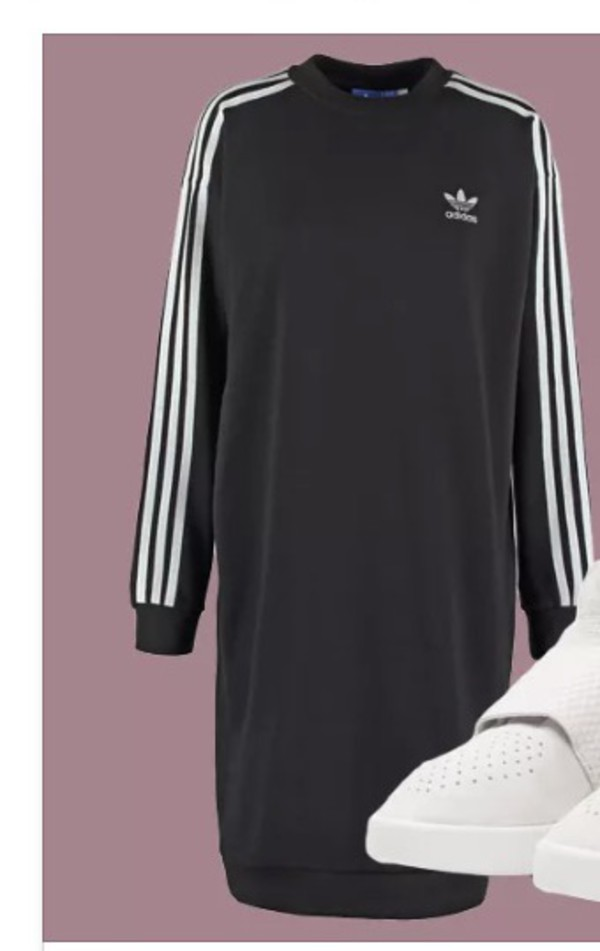 sweater adidas oversized sweater black 3 white stripes long sleeves long