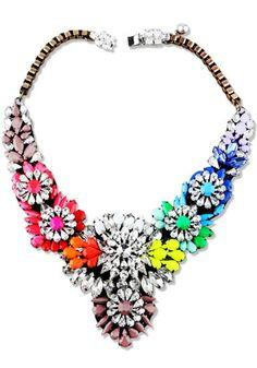 Multicolor burst necklace