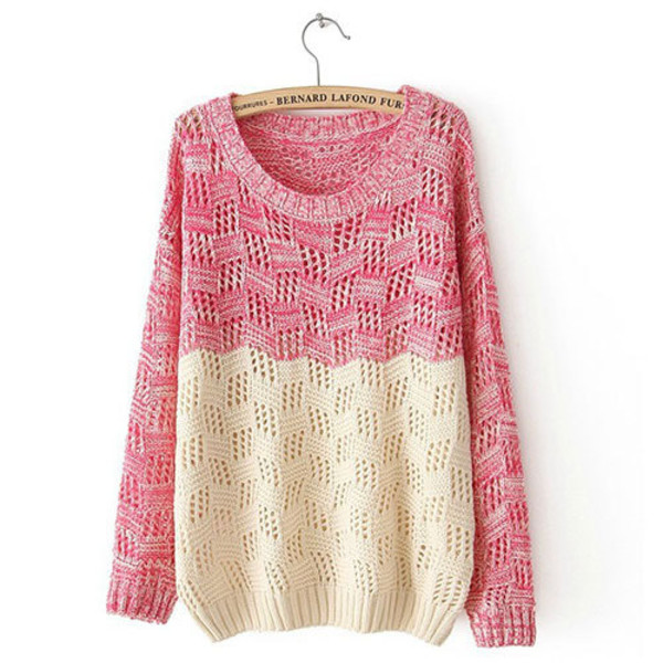 sweater seater mixing color swet loose