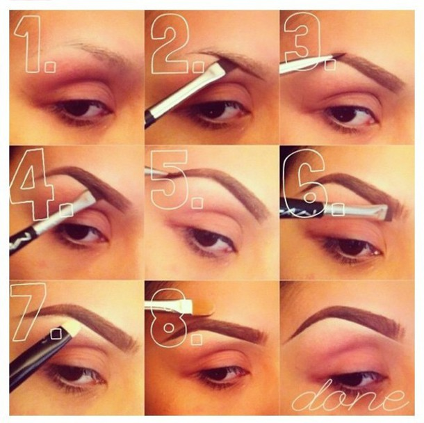 make-up gradient effect eyebrows
