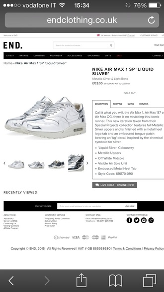 shoes nike metallic liquid feet metal air max