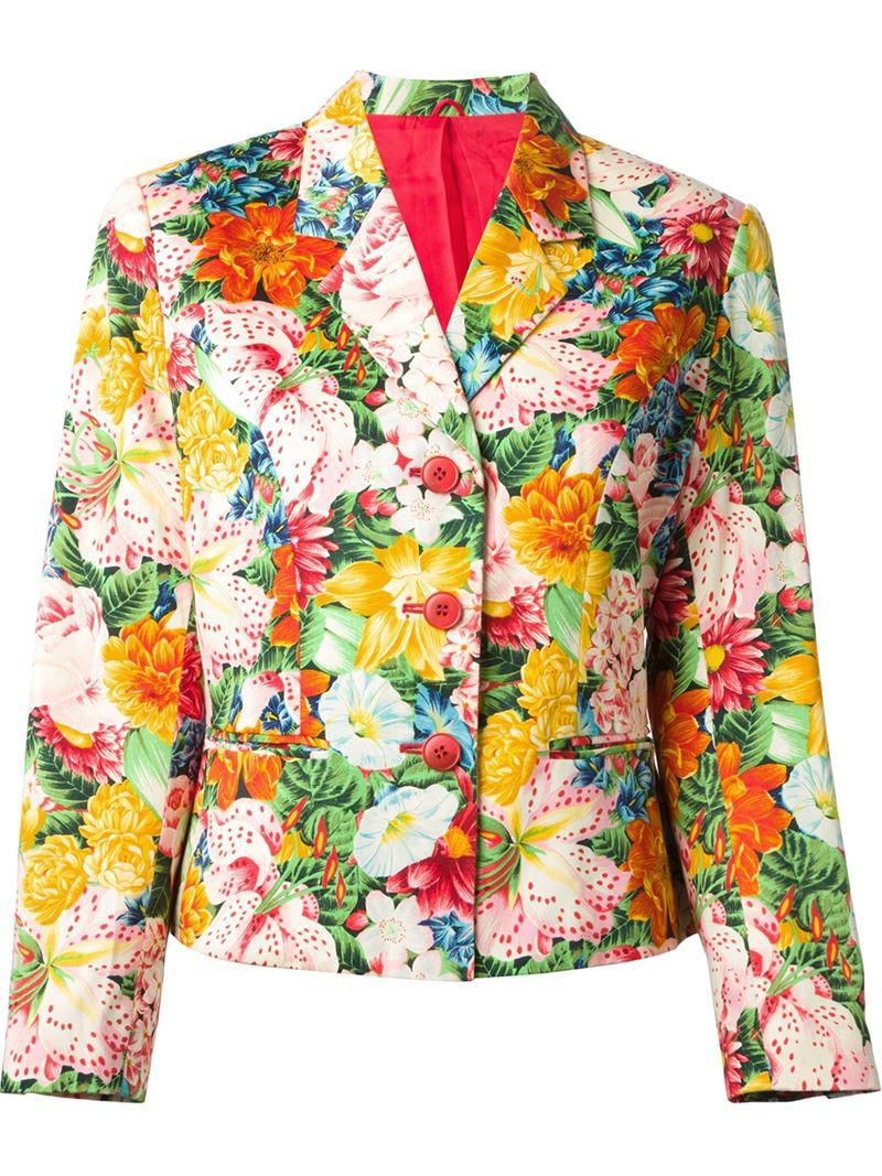 Vintage Floral Print Kenzo Vintage Floral Print Blazer Womens Size 36 Black