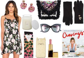 currentlycoveting blogger jewels bag gloves sunglasses make-up