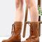 Knit cuff combat boots chestnut -shein(sheinside)