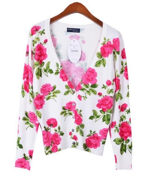 Rose V Neck Sweater