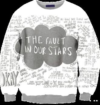sweater hazel grace sweatshirt the fault in our stars augustus waters john green fangirl merch