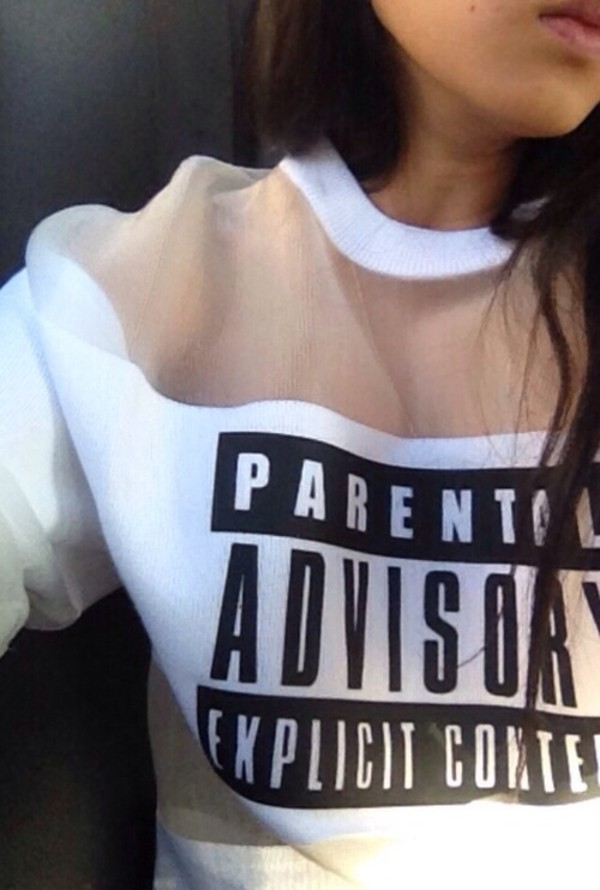 shirt sweater sweatshirt jumper parental advisory explicit content
