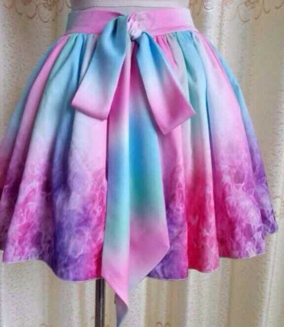 """candy wonderland"" tie dye multicolor bow skirt – glamzelle"
