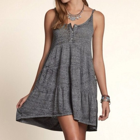 dress grey dress cute