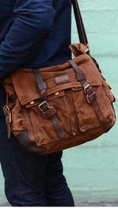 bag,messenger bag,mens messenger bag,brown bag