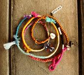 jewels,BeadStonenSkin,Sterling tag,Wrap anklet,bracelets,statement jewelry,boho bracelet,leather beads bracelet,bollywood,coloful jewelry,colorful necklace,wrap bracelet,wrap necklace,threads,gypsy jewelry,tribal necklace,Jewelry Tribal,braided bracelet