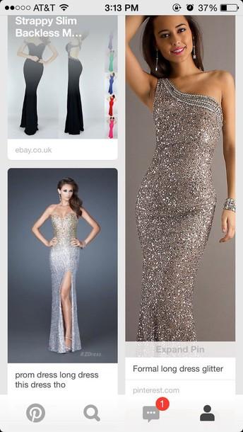 dress sparkly prom dress