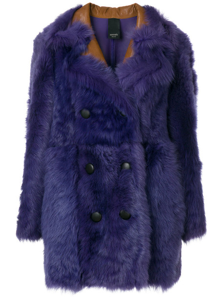 Numerootto coat double breasted women purple pink