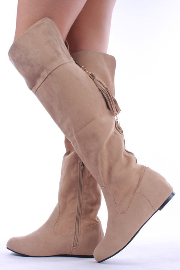 boots beige shoes