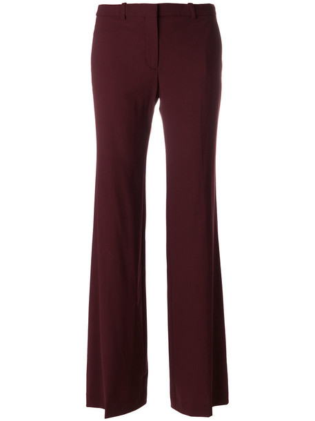 theory women spandex cotton wool red pants