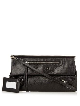 envelope clutch classic clutch leather black bag