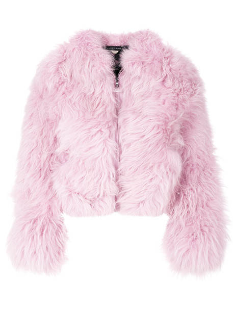 CHARLOTTE SIMONE jacket fur women fluffy cotton silk purple pink