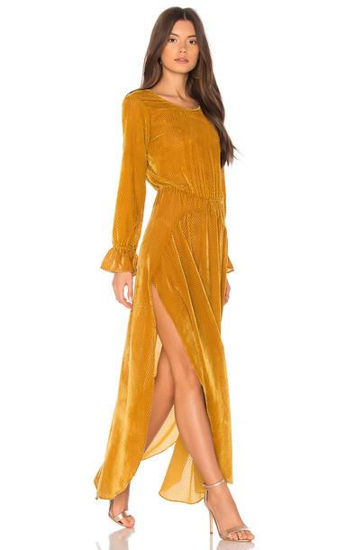 FLYNN SKYE dress maxi dress maxi mustard