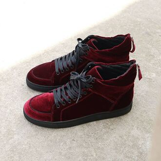 shoes sneakers yeezy balenciaga louboutin red suede red suede trainers manieredevoir maniere de voir