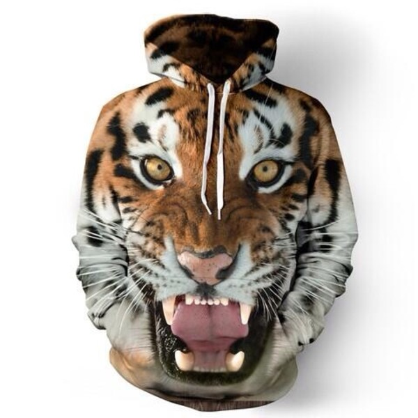 sweater tiger face sweatshirt hoodie tiger shirt