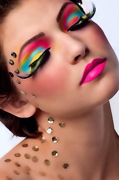 make-up multi colored make up