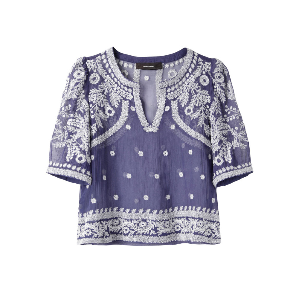 Isabel Marant Leane Embroidered Top