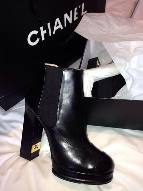 shoes chanel designer international boots heel boots
