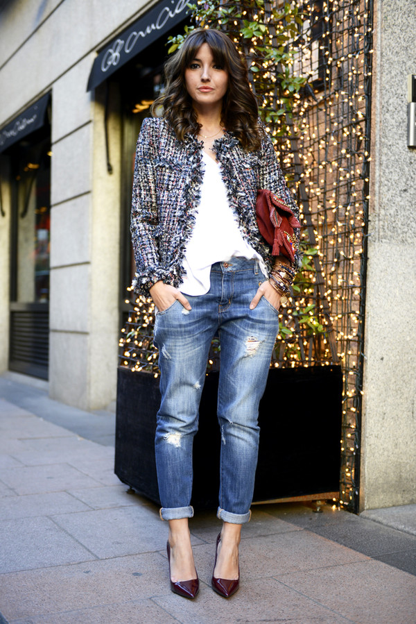 lovely pepa jacket jeans shoes blouse bag jewels