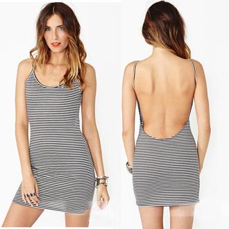 dress backless dress backless stripes striped dress