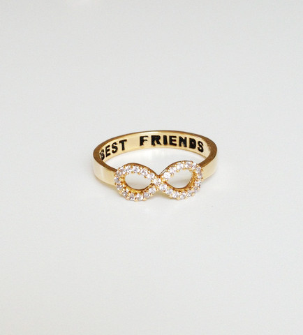 louun — Crystal Best Friends Ring