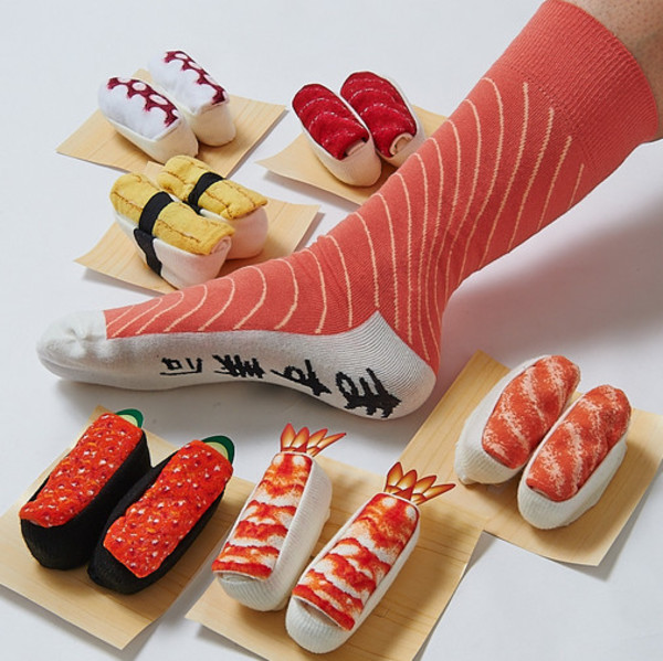 socks sushi anime manga kawaii food nice japanese funny