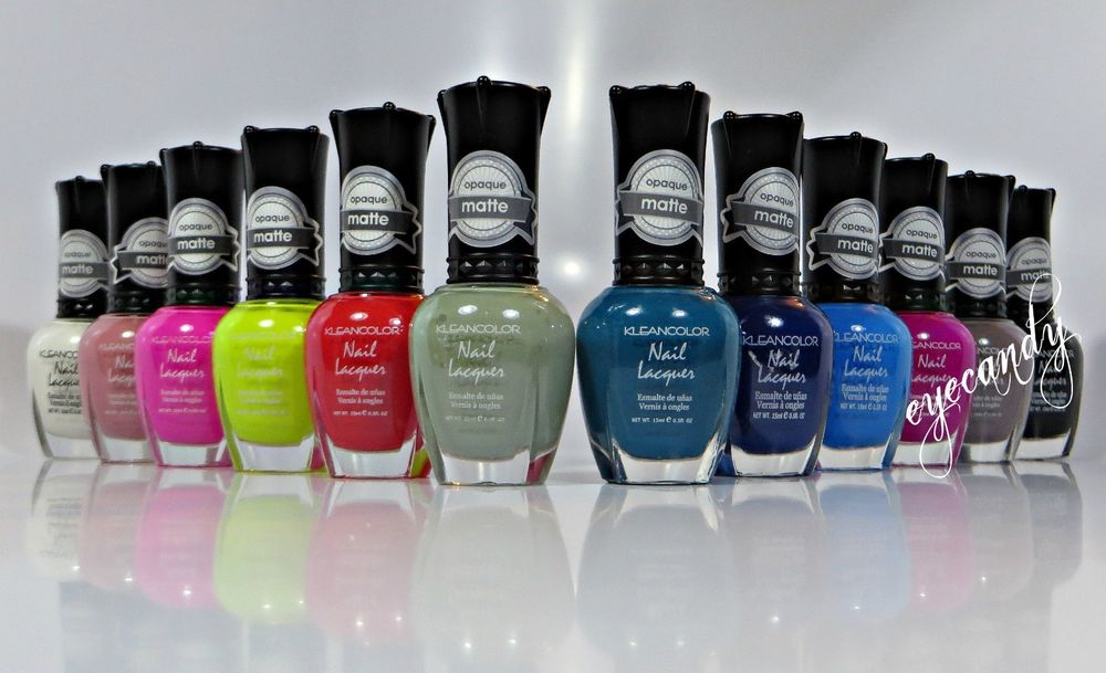 KLEANCOLOR Matte Collection 12 Pcs Full Set Nail Polish Lacquer ...