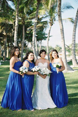 ruffled blog blogger dress shoes jewels sleeveless dress blue dress strapless dress wedding dress beach beach wedding