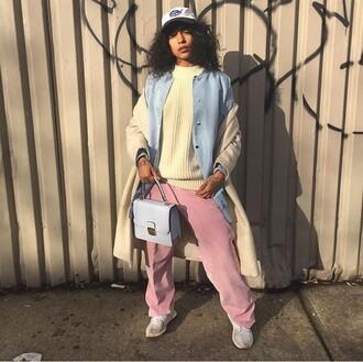 pants corduroy pink blush mauve sweatpants joggers princess nokia
