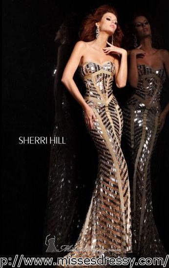 2014  New Trend  Sexy  Curvy  Long  Mermaid  Golden  Dress with  Sparkle  Sequins  Strips  Prom Dresses Party  Pageant  Gowns-in Prom Dresses from Apparel & Accessories on Aliexpress.com