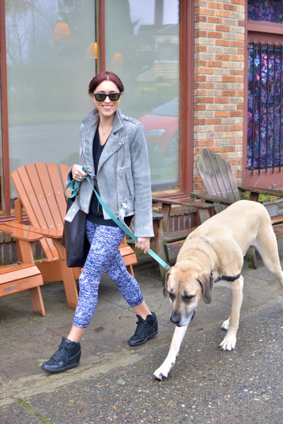 my style pill blogger jacket sweater pants shoes bag