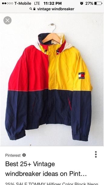 coat vintage windbreaker tommy hilfiger tommy hilfiger jacket