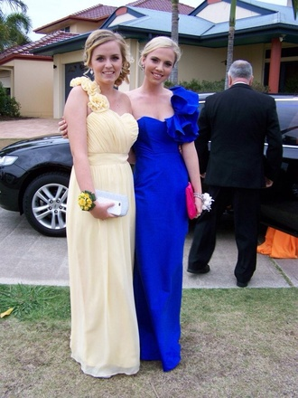 dress formal dress royal blue dress royal blue ruffle one sholder fitted dress silk blue prom formal long royal
