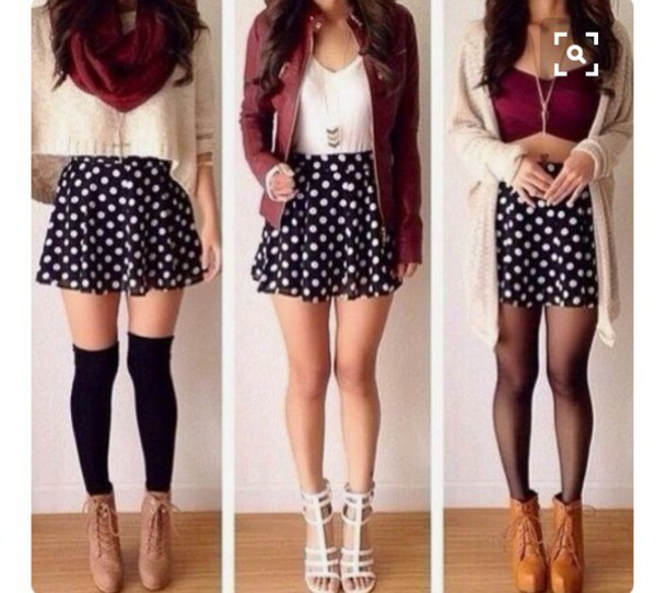6642ac6d8c3f skirt, skater skirt, cute, outfit, style, fashion, pretty, girl ...