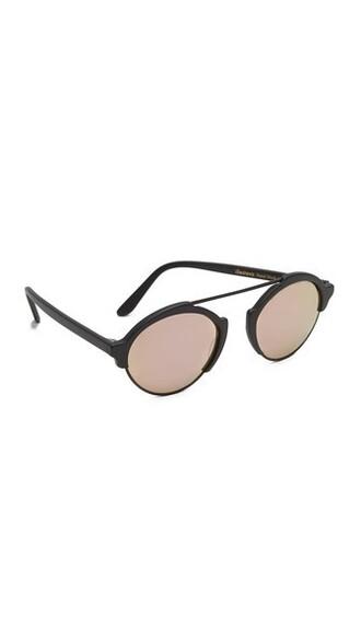 matte rose gold rose sunglasses mirrored sunglasses gold black matte black