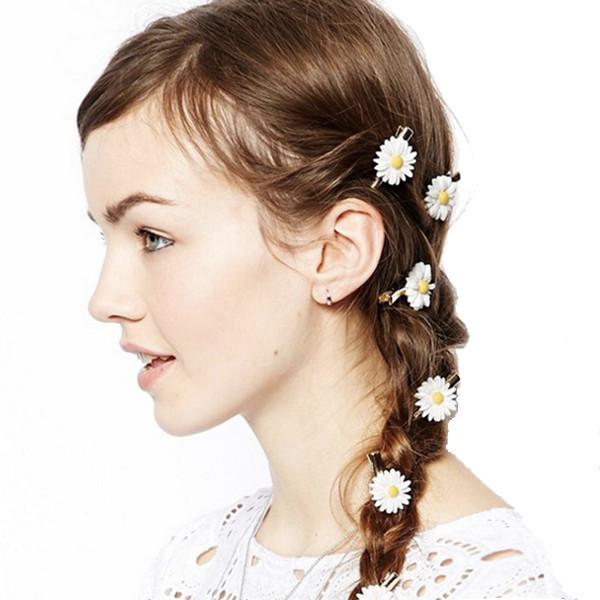 Flowers hair pins set